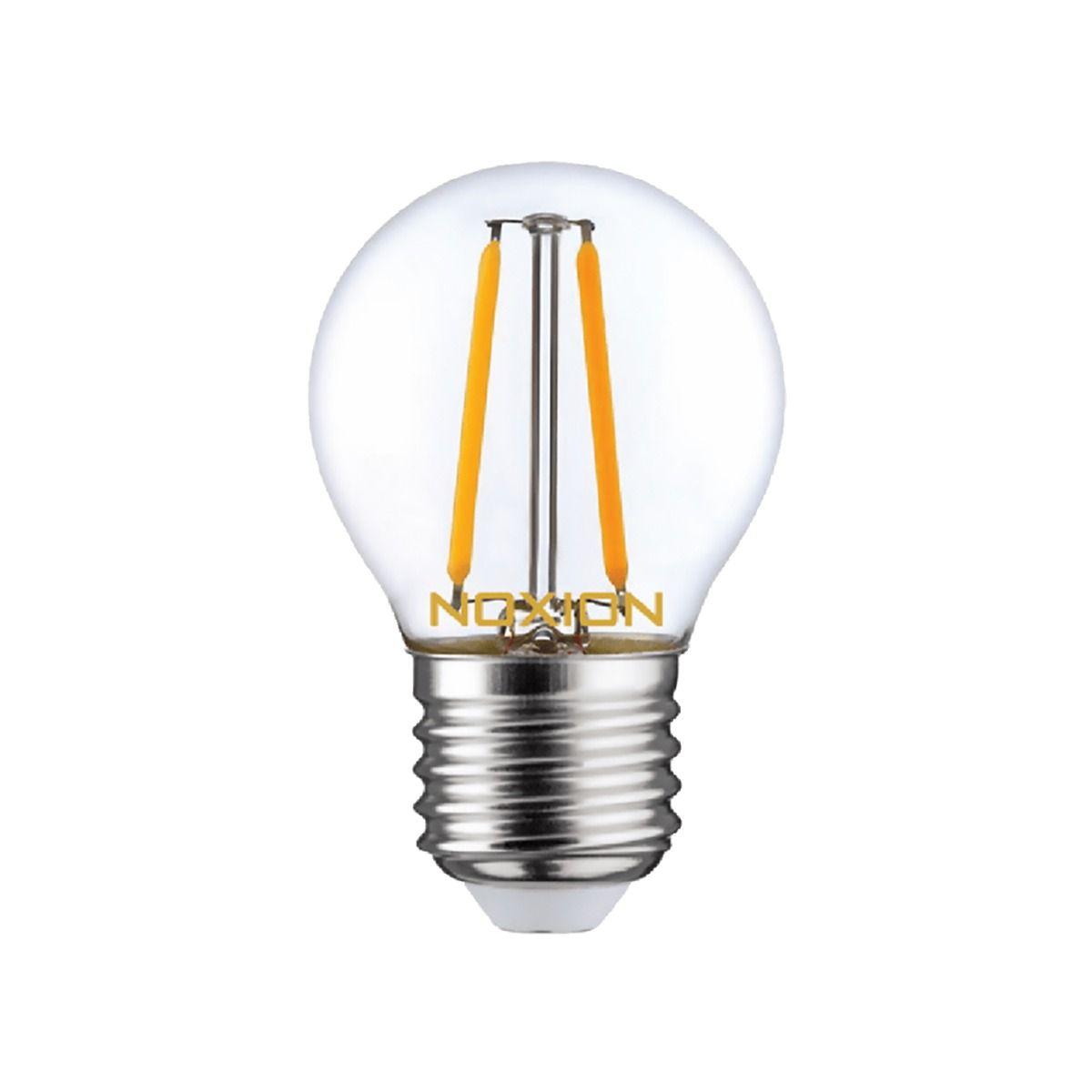 Noxion Lucent LED Lustre E27 2.5W 827 con Filamento | Luz muy Cálida - Regulable - Reemplazo 25W