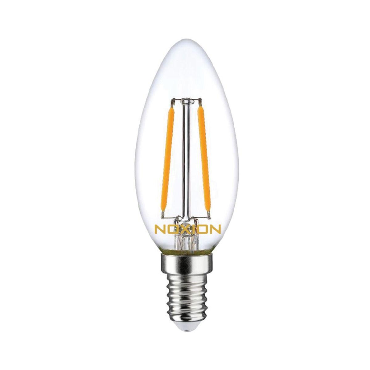 Noxion Lucent con Filamento LED Vela B35 E14 2.5W 250lm 827 | Regulable - Luz muy Cálida - Reemplazo 25W