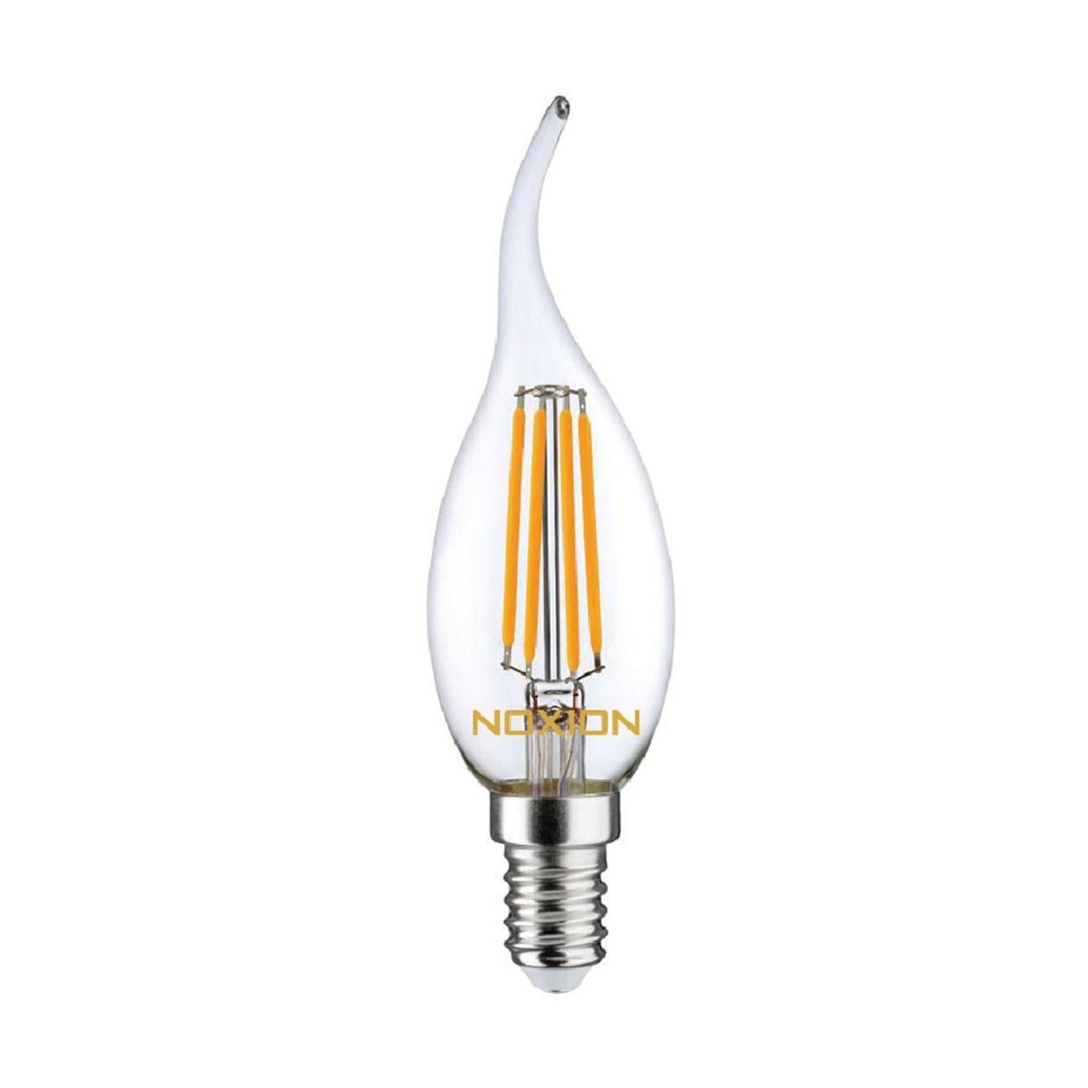 Noxion Lucent con Filamento LED Candle 4.5W 827 BA35 E14 Clara   Regulable - Luz muy Cálida - Reemplazo 40W