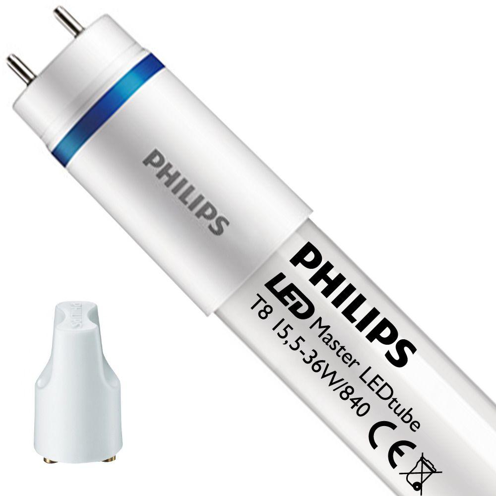 Philips LEDtube EM UO 15.5W 840 120cm (MASTER) | Blanco Frio - Cebador LED incl. - Reemplazo 36W