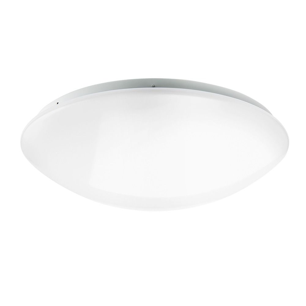 Noxion Plafón LED Techo/Pared Corido IP44 4000K 18W | con Sensor - Reemplazo 2x18W