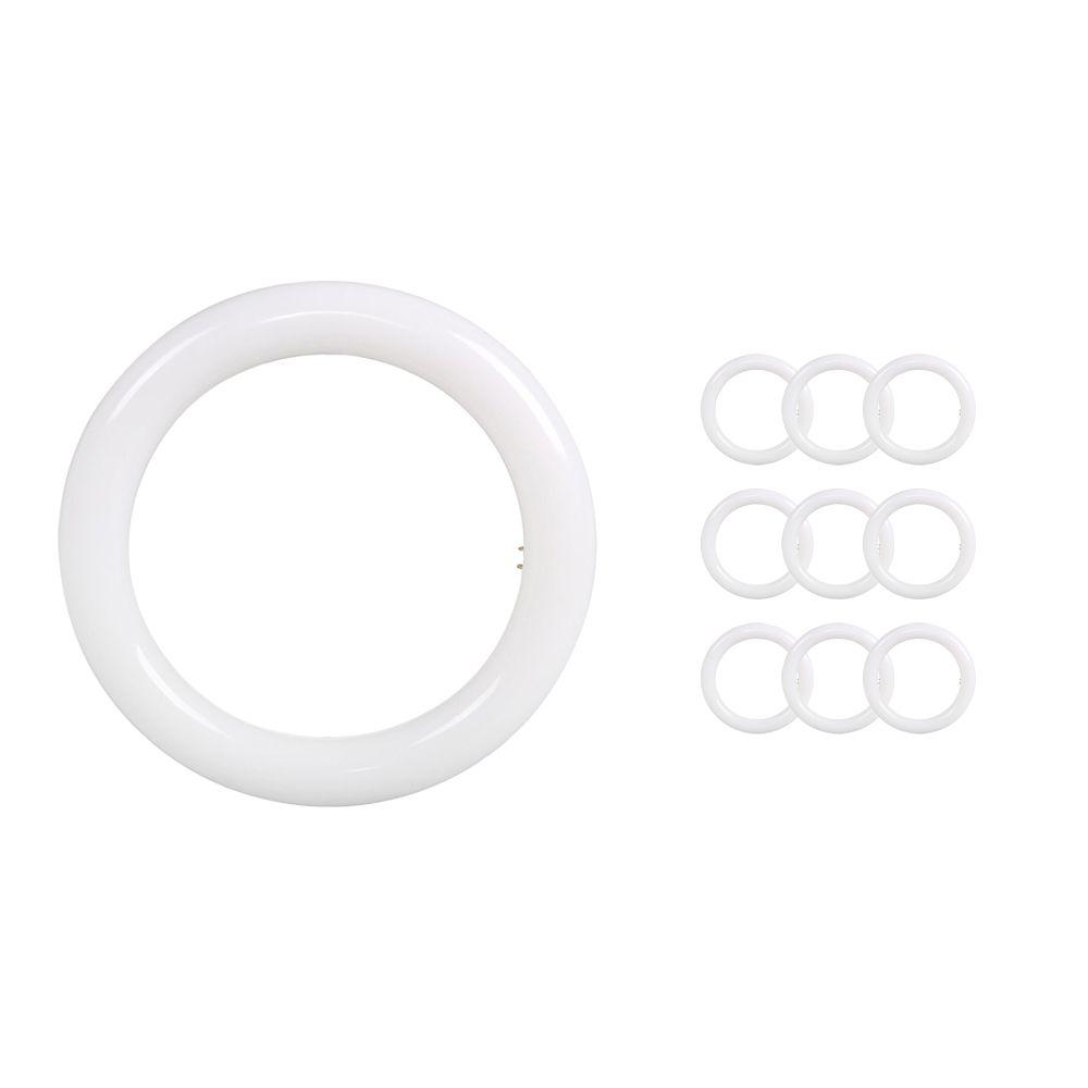 Multipack 10x Noxion Avant LED T9 Tube Circular EM/MAINS G10q 20W 840   Blanco Frio - Reemplazo 40W