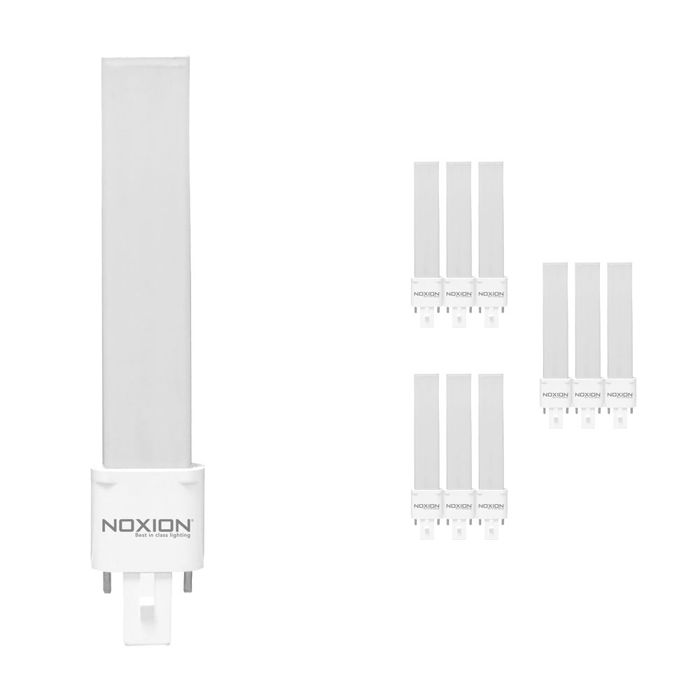 Multipack 10x Noxion Lucent LED PL-S EM 4.5W 840   Blanco Frio - 2-Pines - Reemplazo 10W and 13W