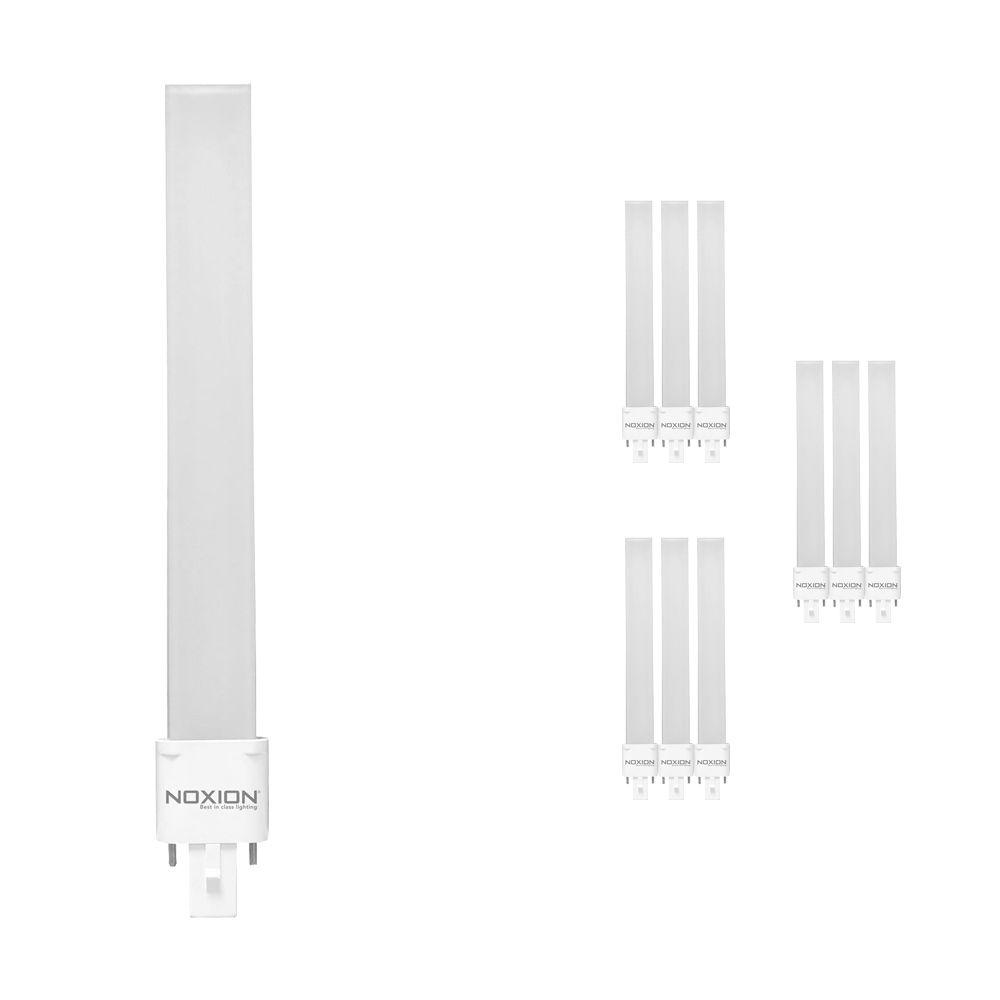 Multipack 10x Noxion Lucent LED PL-S EM 6W 830 | Luz Cálida - 2-Pines - Reemplazo 11W