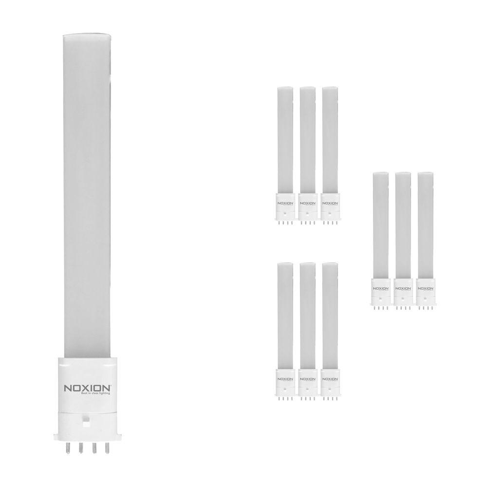 Multipack 10x Noxion Lucent LED PL-S EM 6W 830   Luz Cálida - 4-Pines - Reemplazo 11W