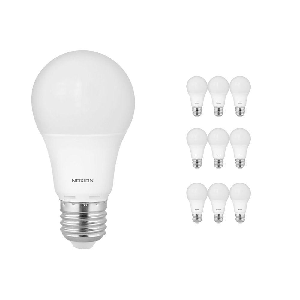 Multipack 10x Noxion PRO LED Bulb A60 E27 7W 827 Mate | Luz muy Cálida - Regulable - Reemplazo 40W