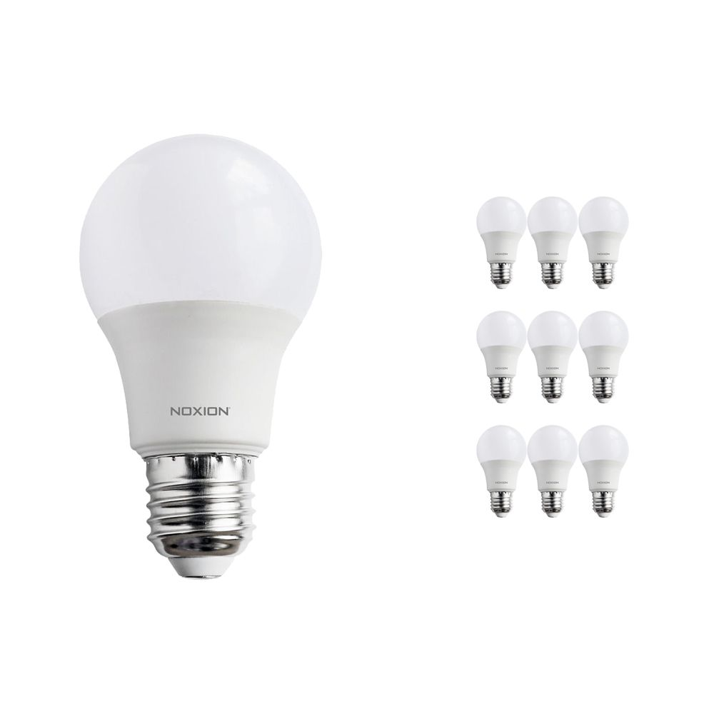 Multipack 10x Noxion PRO LED Bulb A60 E27 9W 822-827 Mate | Regulable - Luz muy Cálida - Reemplazo 60W