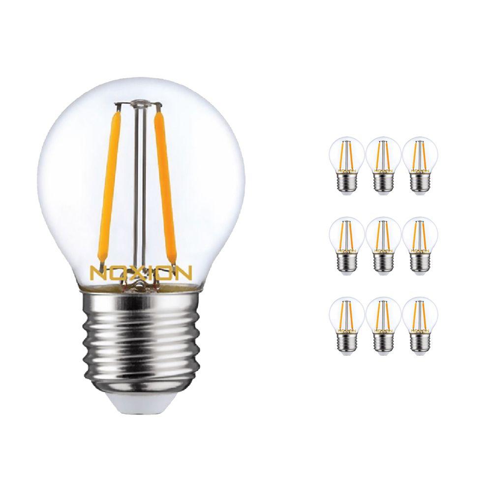 Multipack 10x Noxion Lucent LED Lustre E27 2.6W 827 con Filamento   Luz muy Cálida - Reemplazo 25W