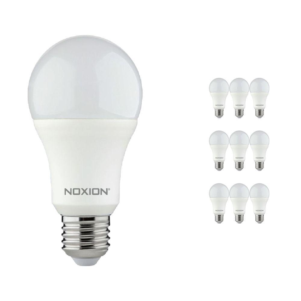Multipack 10x Noxion Lucent LED Classic 11W 827 A60 E27   Luz muy Cálida - Reemplazo 75W