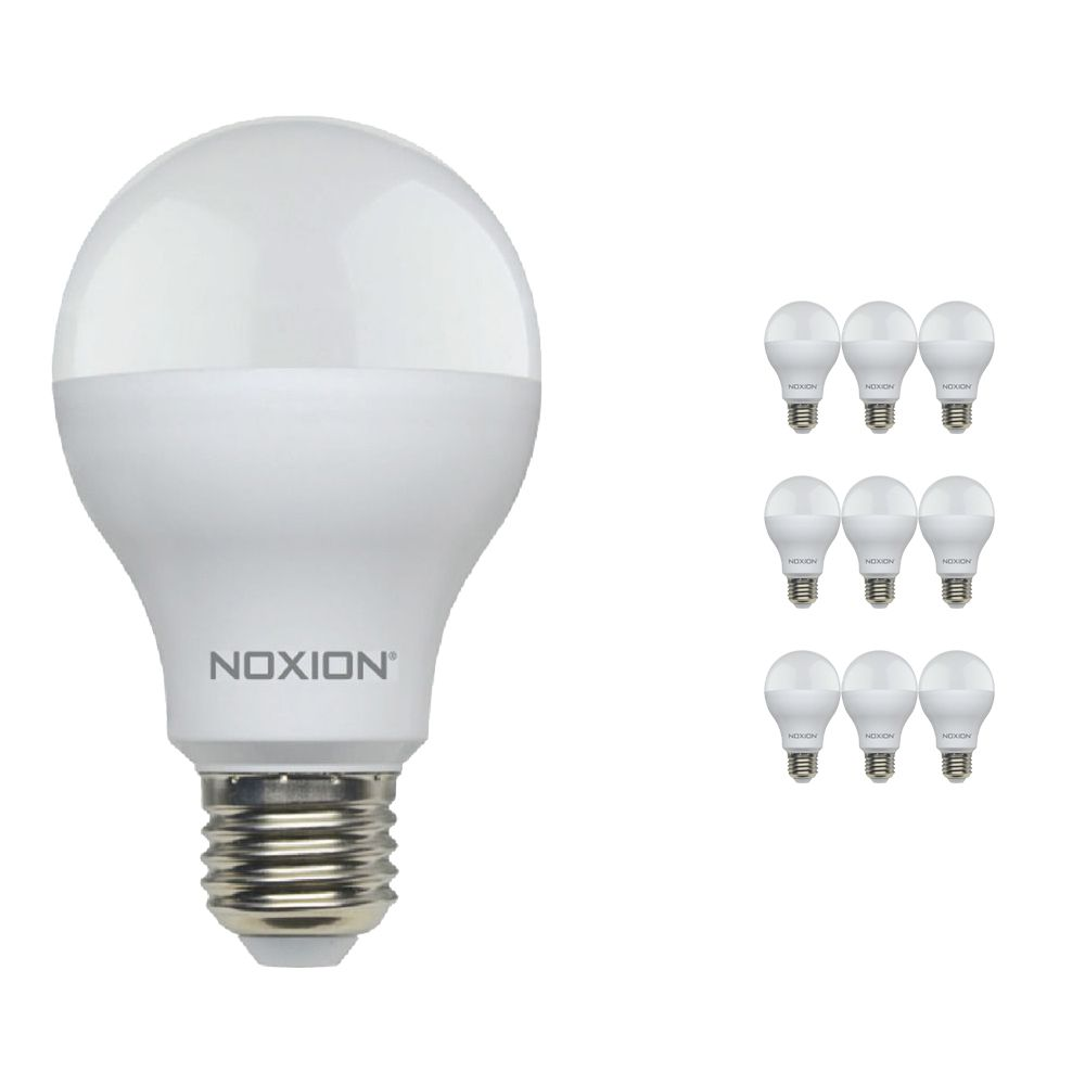 Multipack 10x Noxion Lucent LED Classic 14W 827 A60 E27 | Regulable - Luz muy Cálida - Reemplazo 100W
