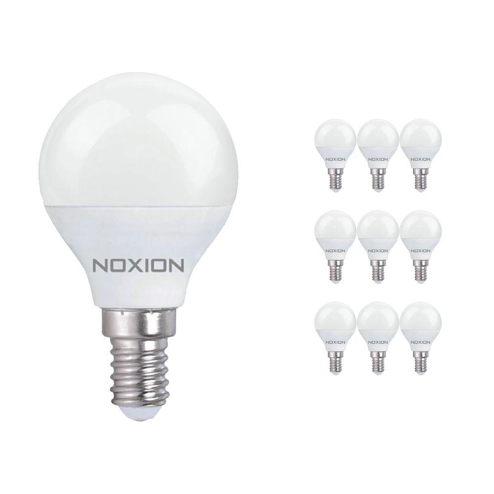 Multipack 10x Noxion Lucent LED Classic Lustre 3W 827 P45 E14   Luz muy Cálida - Reemplazo 25W