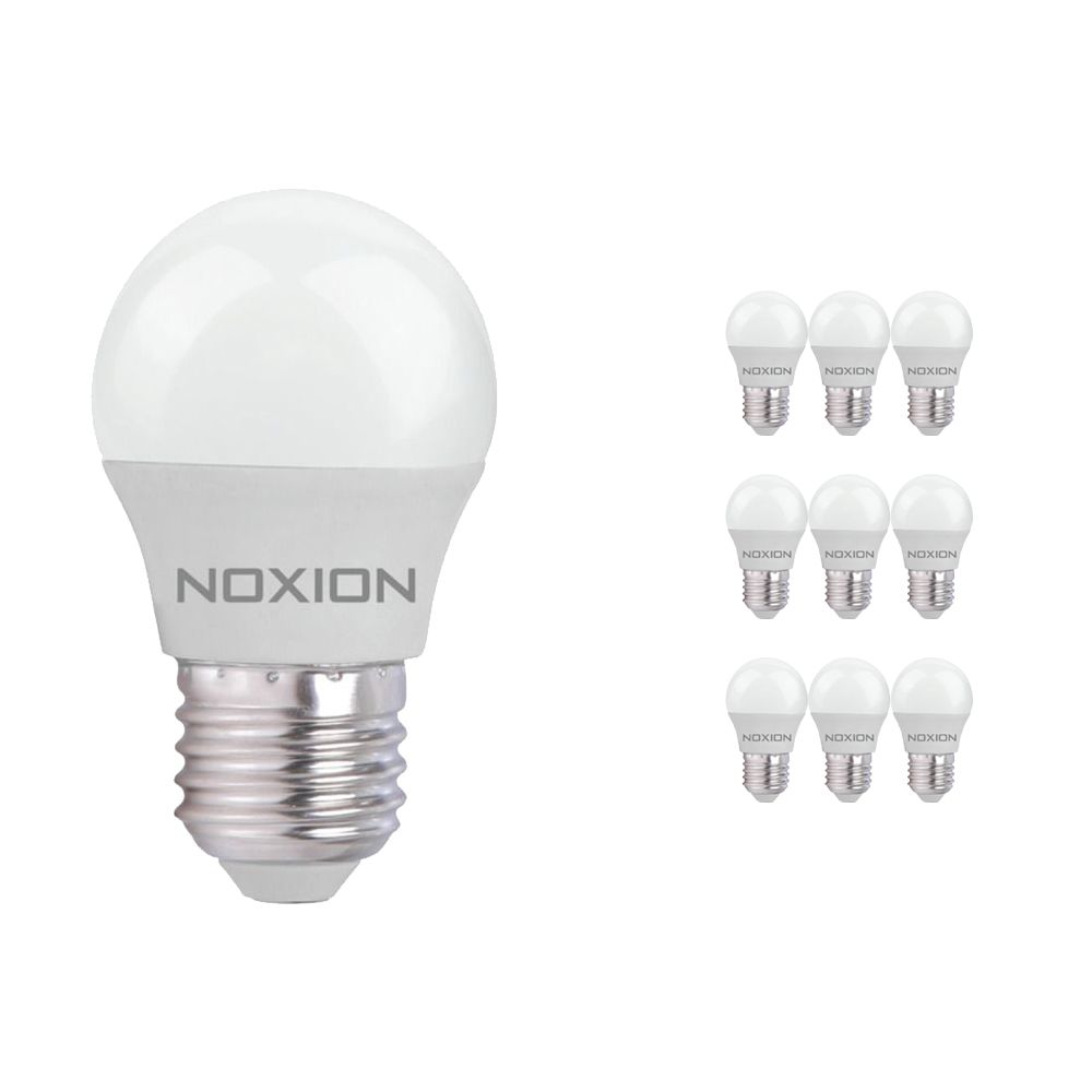 Multipack 10x Noxion Lucent LED Classic Lustre 5W 827 P45 E27   Luz muy Cálida - Reemplazo 40W