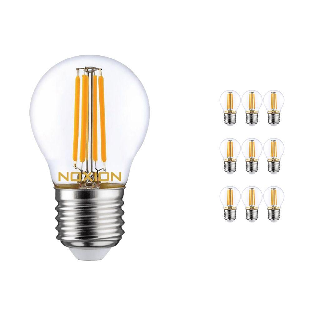 Multipack 10x Noxion Lucent con Filamento LED Lustre 4.5W 827 P45 E27 Clara   Luz muy Cálida - Reemplazo 40W