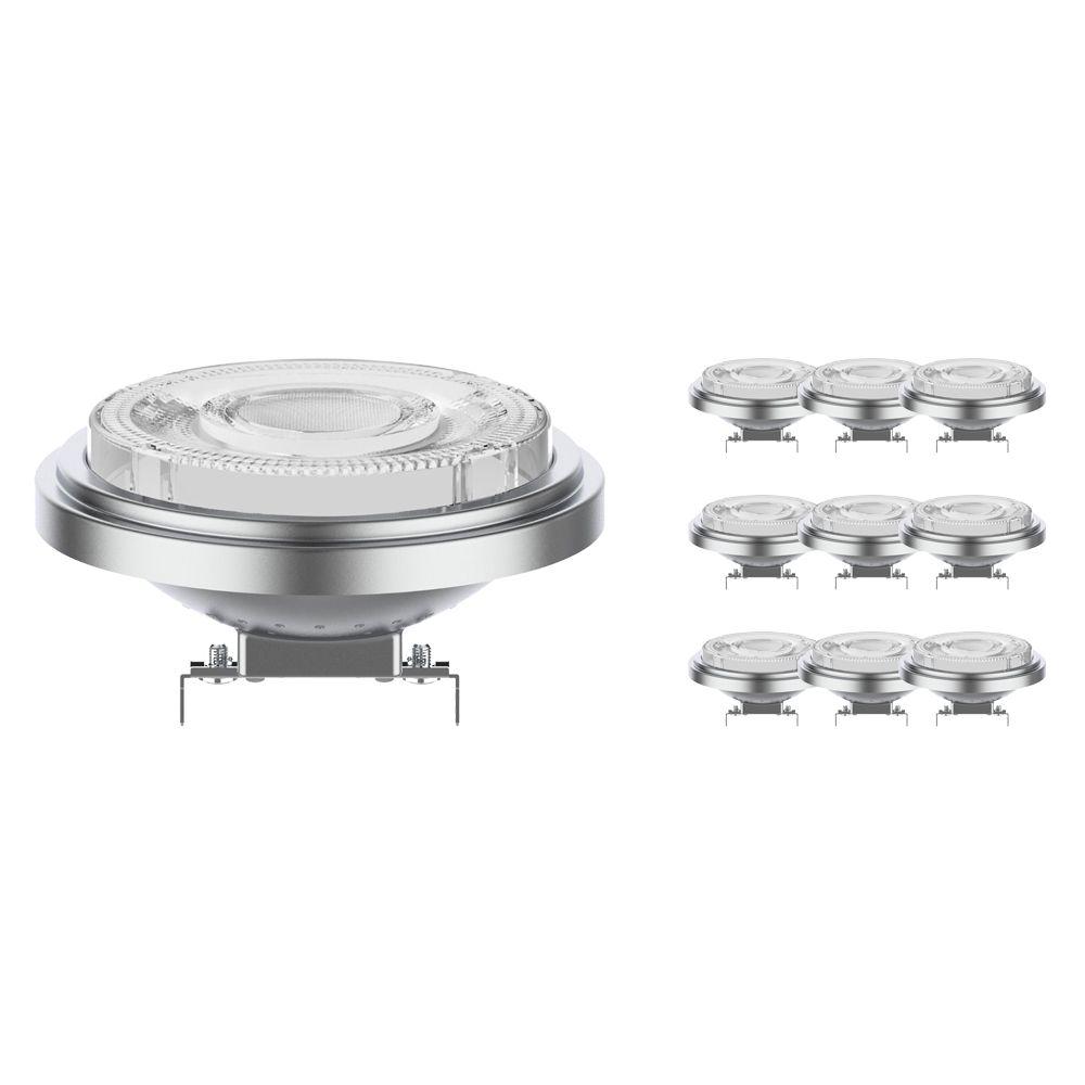 Multipack 10x Noxion Lucent Foco LED AR111 G53 12V 7.3W 930 24D | Regulable - Mejor reproducción de color - Reemplazo 50W