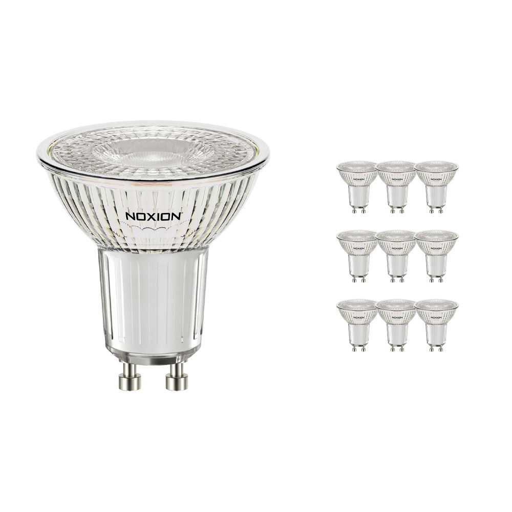 Multipack 10x Noxion Foco LED GU10 4.6W 827 36D 420lm   Regulable - Luz muy Cálida - Reemplazo 50W