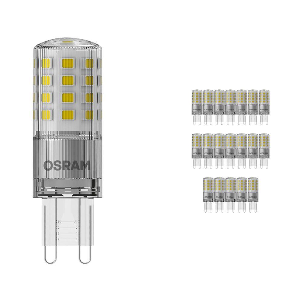 Multipack 20x Osram Parathom LED PIN G9 4.2W 827   Regulable - Luz muy Cálida - Reemplazo 40W