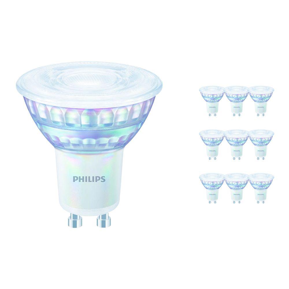 Multipack 10x Philips LEDspot Value GU10 6.2W 930 36D (MASTER)   Mejor reproducción de color - Luz Cálida - Reemplazo 80W