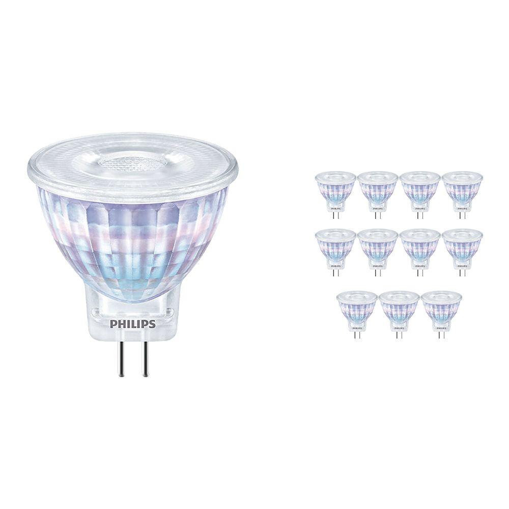 Multipack 12x Philips CorePro LEDspot GU4 2.3W 827 36D   Luz muy Cálida - Reemplazo 20W
