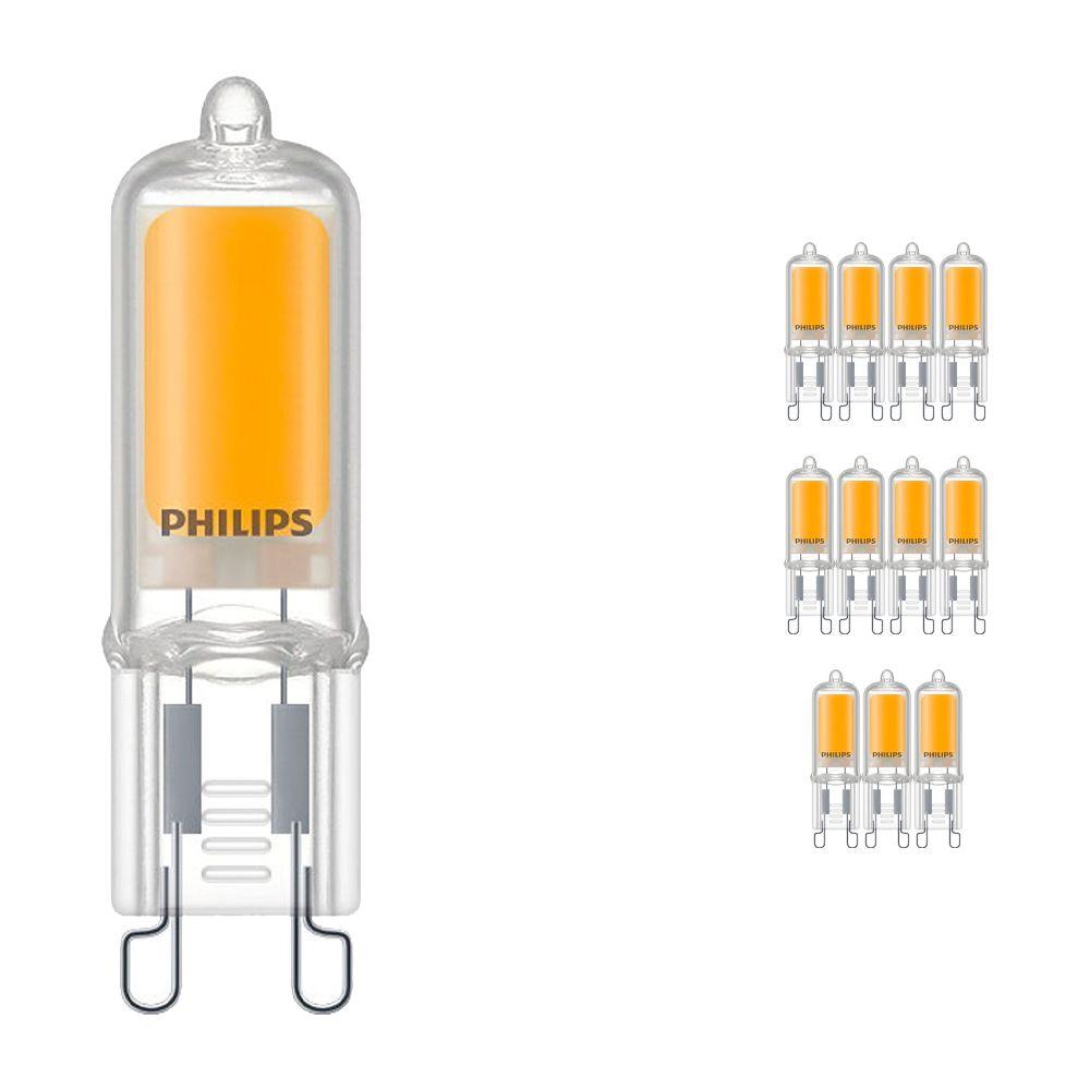 Multipack 12x Philips CorePro LEDcapsule G9 2W 827 | Luz muy Cálida - Reemplazo 25W