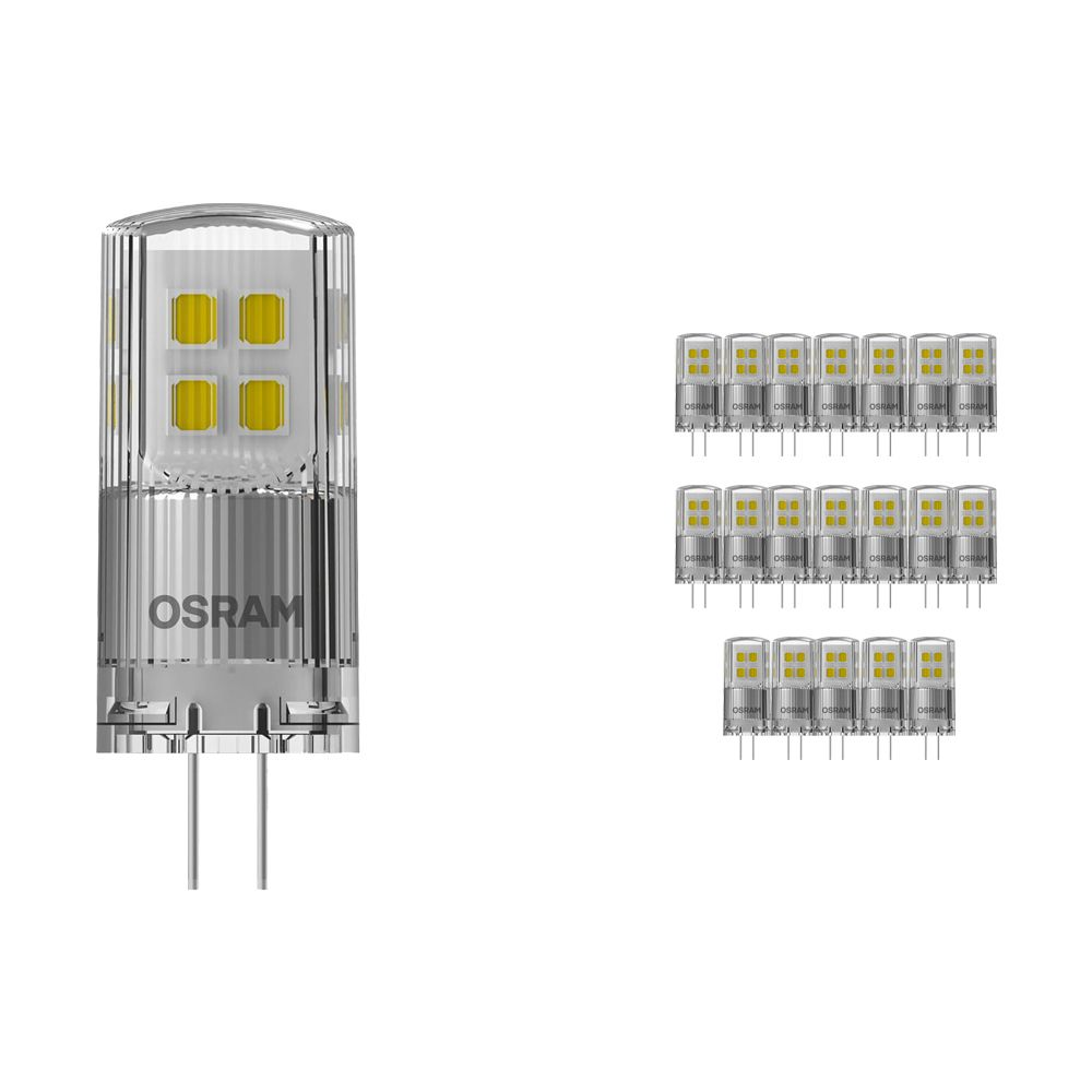 Multipack 20x Osram Parathom LED PIN G4 2W 827   Regulable - Luz muy Cálida - Reemplazo 20W