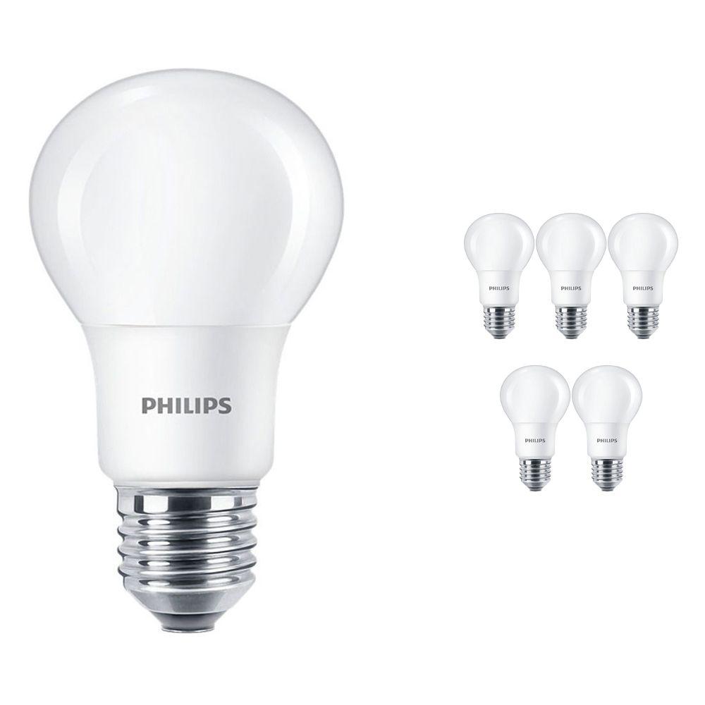 Multipack 6x Philips CorePro LEDbulb E27 A60 5W 927 Mate   Mejor reproducción de color - Luz muy Cálida - Regulable - Reemplazo 40W