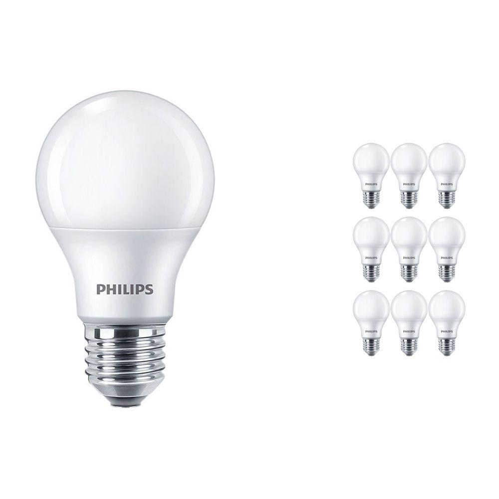 Multipack 10x Philips CorePro LEDbulb E27 A60 8.5W 927 Mate   Mejor reproducción de color - Luz muy Cálida - Regulable - Reemplazo 60W