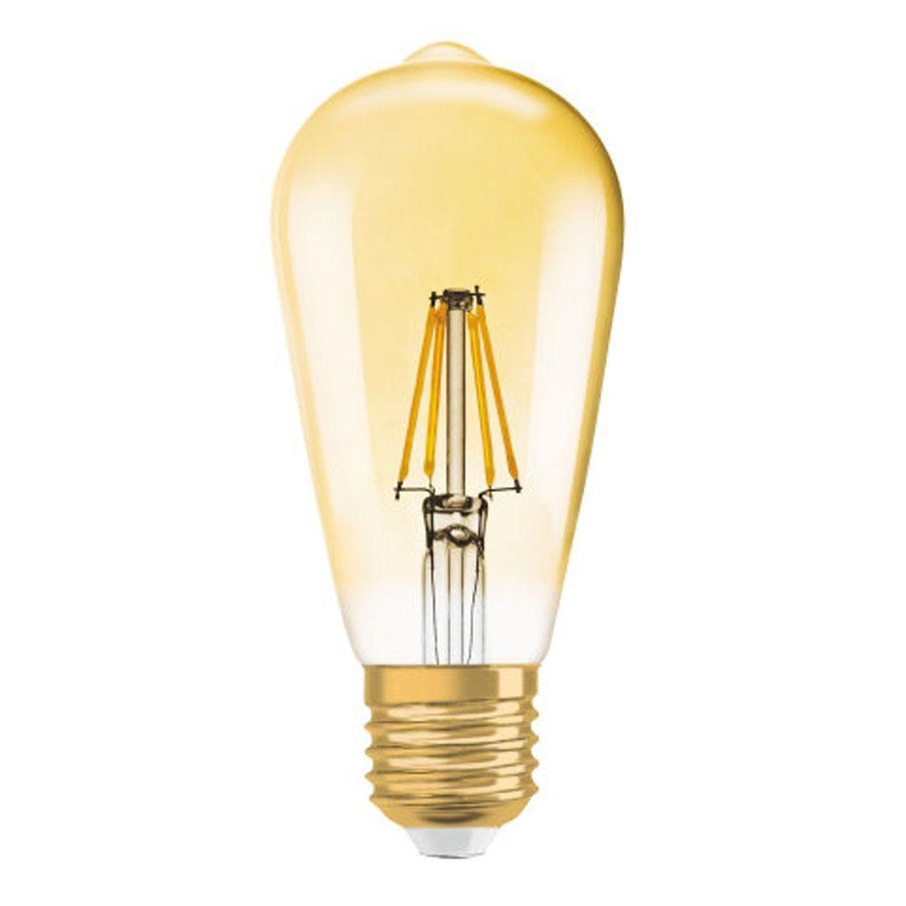 Osram Vintage 1906 LED E27 Edison 2.5W 824 Oro | Reemplazo 22W