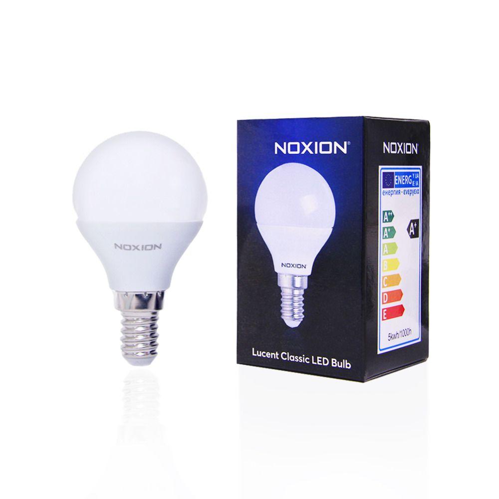 Noxion Lucent LED Classic Lustre 5W 827 P45 E14   Luz muy Cálida - Reemplazo 40W