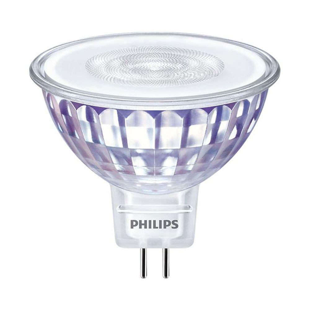 Philips LEDspot LV Value GU5.3 MR16 5.5W 830 36D (MASTER)   Luz Cálida - Regulable - Reemplazo 35W