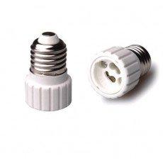 Adaptador para portalámparas E27 => GU10 Blanco