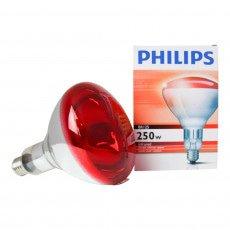 Philips BR125 IR 250W E27 230-250V Rojo