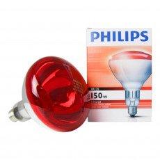 Philips BR125 IR 150W E27 230-250V Rojo