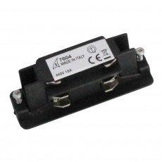 Conector trifásico eléctrico recto - Negro