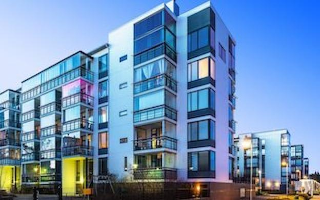 Iluminación interior para complejos de apartamentos