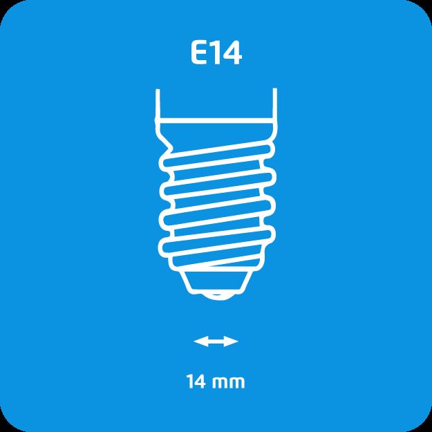 Philips Bombilla Incandescente E14